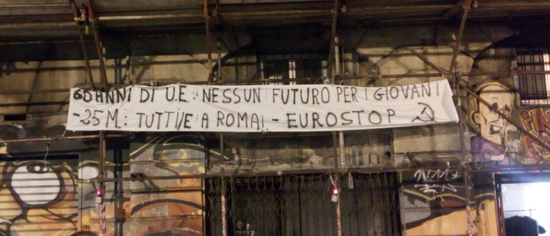 Striscione in Via delle Fontane, Genova