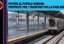 Potere al Popolo Genova: proposte per i trasporti nella fase due