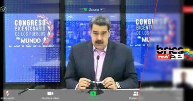 """Maduro al Congresso Bicentenario dei Popoli del Mondo: """"Tante lotte, un'unica bandiera"""""""