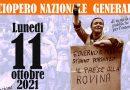 Verso lo sciopero generale dell'undici ottobre. Assemblea generale di preparazione il 30 settembre